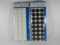 Plstěné podložky samolepicí Ø 25 mm bílá