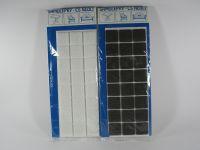 Plstěné podložky samolepicí rozměr 25 x 25 mm hnědé