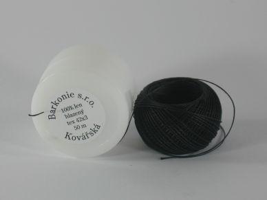 Lněná kovářská nit černá