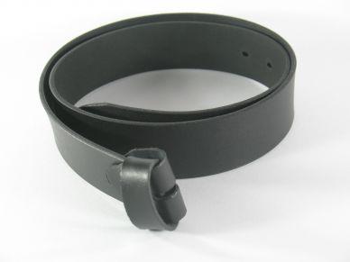 Kožený opasek bez spony šíře 40 mm