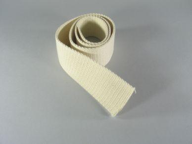 Popruh bavlněný bílý 50 mm