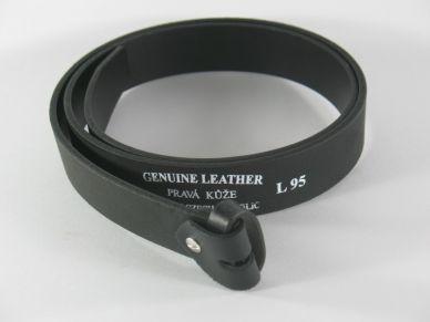 Kožený opasek bez spony šíře 35 mm