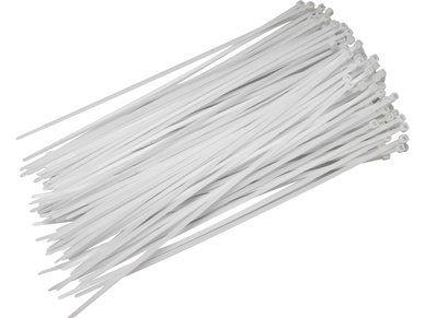 Pásky stahovací 300 x 4,8 mm bílé