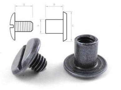 Opaskový šroubek 6 mm černý nikl